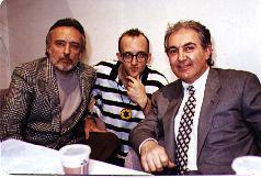 Keith with Dennis Hopper and Tony Shafrazi